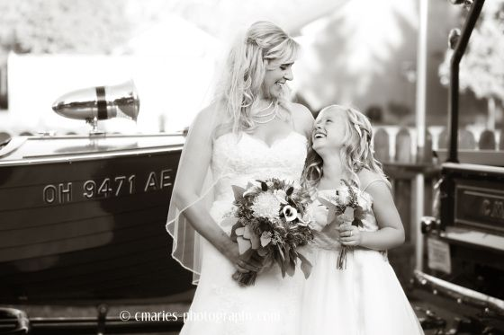 Vintage Wedding Moment of a Mother and Daughter.