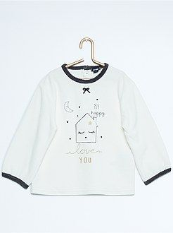 Pyjama 2 pièces en velours avec broderies - Kiabi