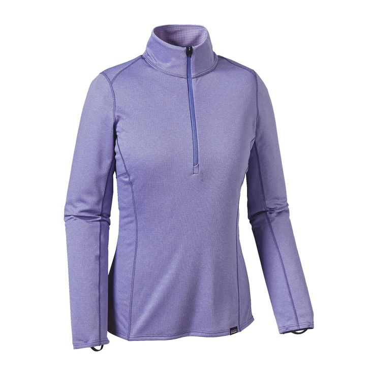 The Patagonia Women's Capilene® Midweight Zip-Neck keeps you dry and comfortable when worn during high-exertion activities in cool-to-moderate temps.