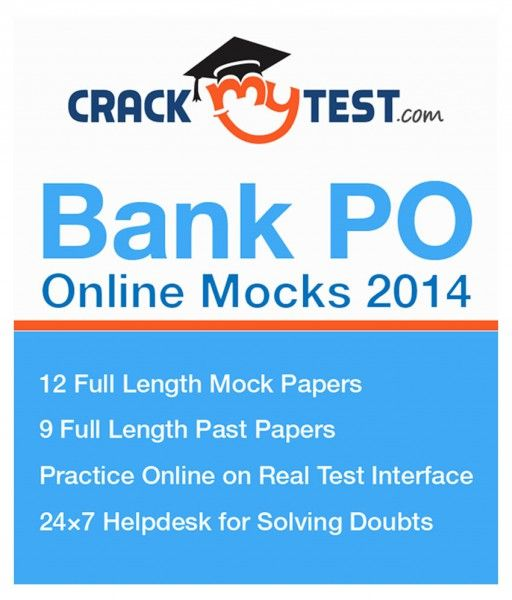 SnapDeal is donating Free CrackMeTest Bank PO fresh Mocks 2014 Online Course. Features 12 complete duration Mock documents,24×7 Help desk 4 Solving Queries,