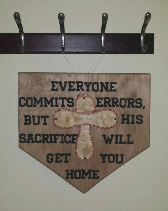 This is a solid wood 12x12 home plate sign, can be displayed on an easel or I can add either ribbon/twine to hang from the top or hooks on the