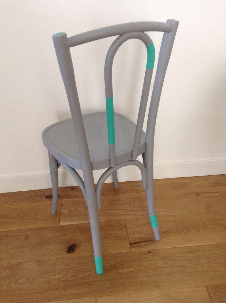 Chaise recup repeinte