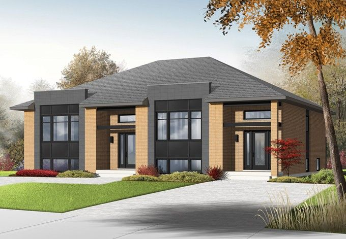 Contemporary House Plan with 3840 Square Feet and 6 Bedrooms from Dream Home Source | House Plan Code DHSW076438