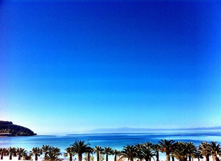 View from the Sani Beach Hotel, Sani Resort, Halkidiki, Greece