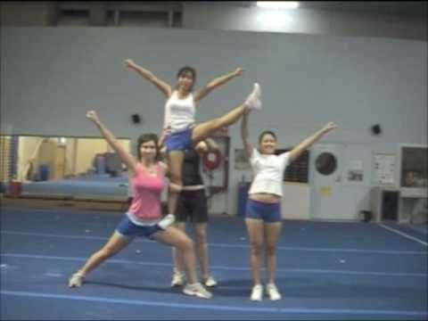 Cheerleading Stunt: Thigh Stand Braced Heel Stretch
