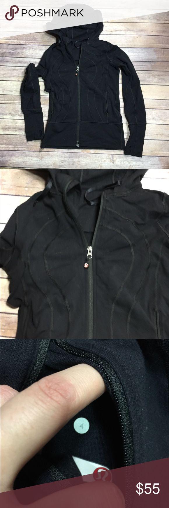 Lululemon Zip Up Hoodie Great condition slight metal scratch on zippers.  Still have size dot. lululemon athletica Tops Sweatshirts & Hoodies