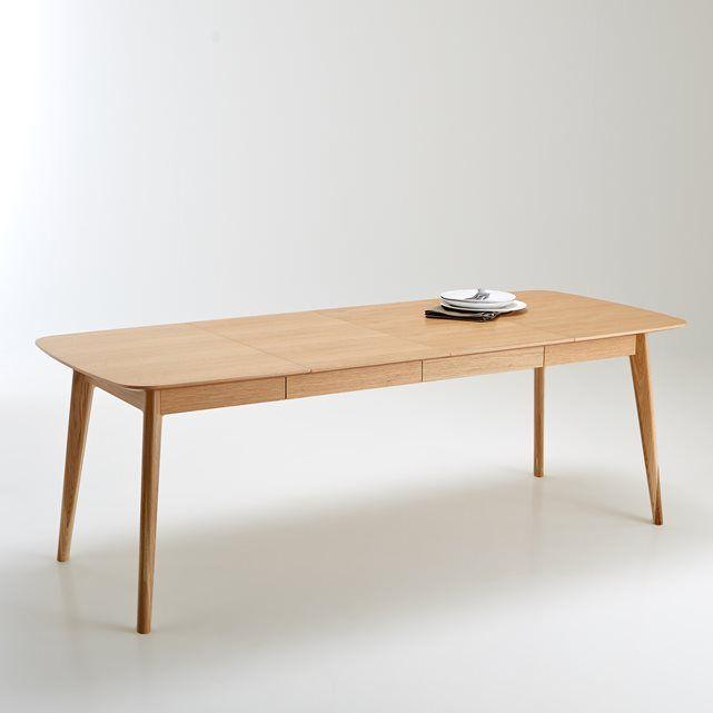 Table de salle à manger évolutive de 4 à 10 couverts, Biface