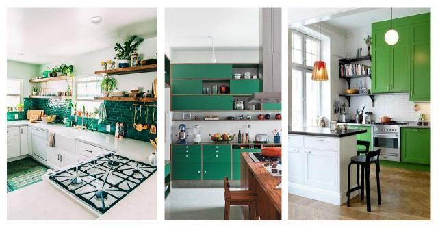 Katalog wnętrz: Wiosenny motyw w kuchni. Kuchnia w zieleni #POMYSŁY #INSPIRACJE #ZIELONA KUCHNIA #ZIELONA #KUCHNIA