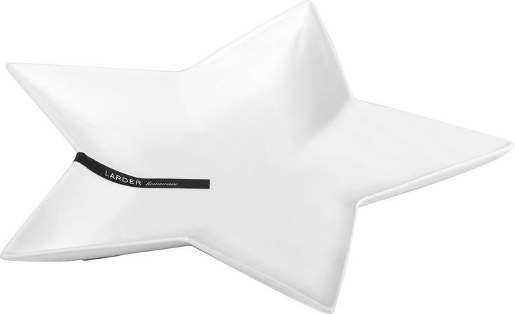 Robe Star Platter -   The Robe Star Platter is one of the most popular designs in the LARDER crockery range. Perfect for serving cheeses, chocolates and homemade biscuits, it comes in bright white. It is made from high quality porcelain, which is durable, lightweight, dishwasher, microwave and oven safe.  larder.com.au