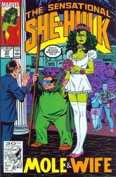 Sensational She-Hulk Vol 1 Issue 33 - Mole & Wife #ComicBookWeddings