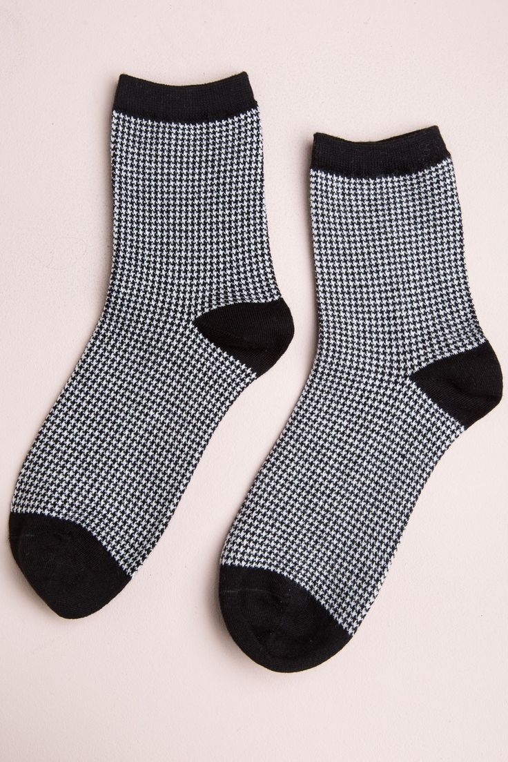 Brandy ♥ Melville | Houndstooth Socks - Socks - Accessories