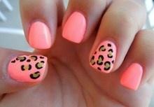 CORAL LEOPARD PRINT NAILS | coral leopard nail art design nailart manicure