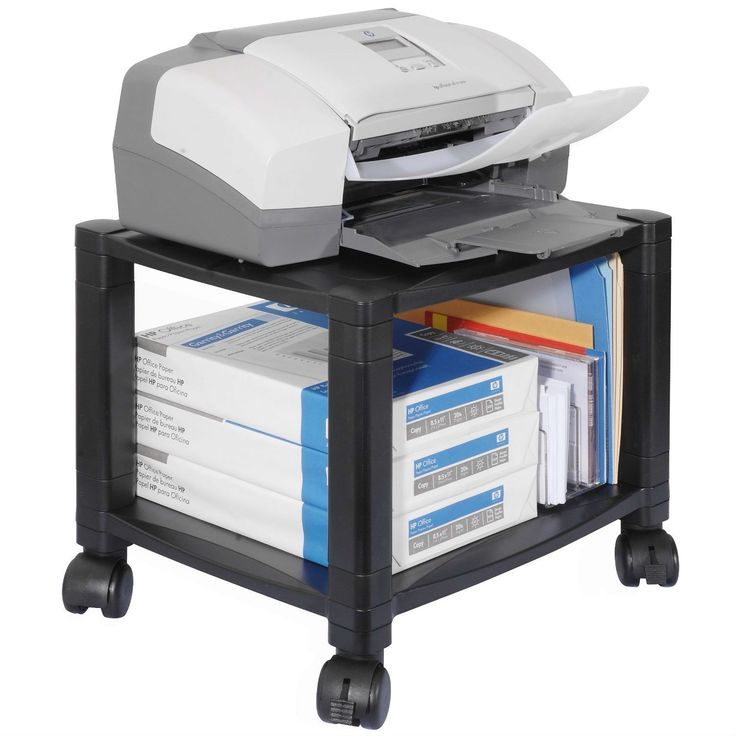 This Sturdy 2-Shelf Mobile Printer Stand Cart in Black with Locking Casters has set the standard for superior design and construction, a high degree of flexibility and responsiveness to the marketplac