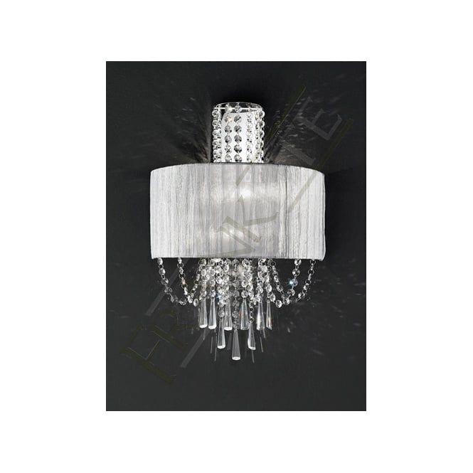 FL2303/2 Empress 2 Light Crystal Wall Light Polished Chrome