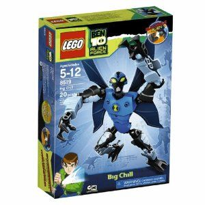 LEGO Ben 10 Alien Force Big Chill (8519) by LEGO. $16.79. Based on popular Ben 10 Alien Force story. Collect all six LEGO Ben 10 Alien Force aliens and combine them into your own morphed super alien. Contains 20 pieces. Blue alien that can fly with 4 blue wings or swim and eyes glow-in-the-dark. Includes chest Omnitrix. From the Manufacturer                In Ben 10 Alien Force, transforming into the intangible, ghost-like Big Chill gives Ben the ability to pass through object...