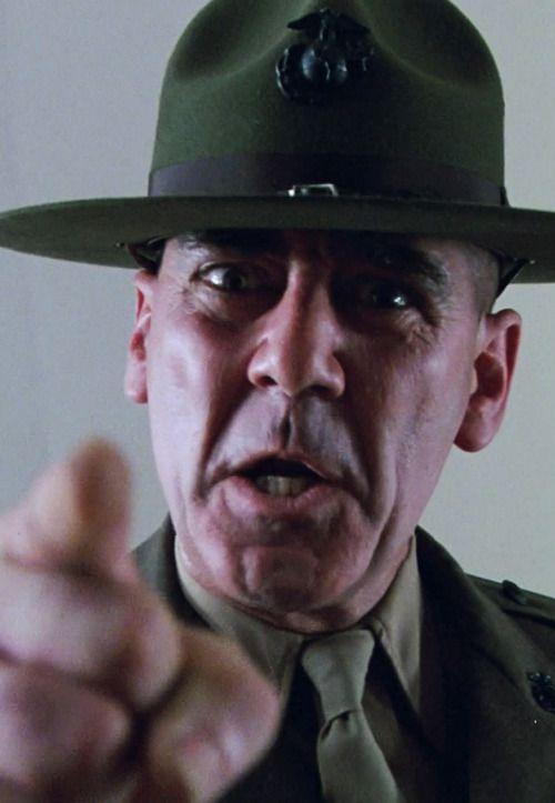 R. Lee Ermey as Gny. Sgt. Hartman in Full Metal Jacket