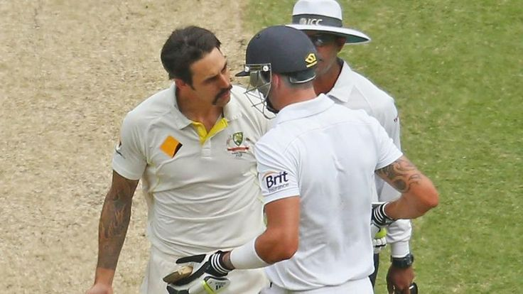 Kevin Pietersen and Mitchell Johnson found the pitch for their latest battle on Twitter, with the former England batsman taking drastic action after some unsavoury words from the former Australian pacer.