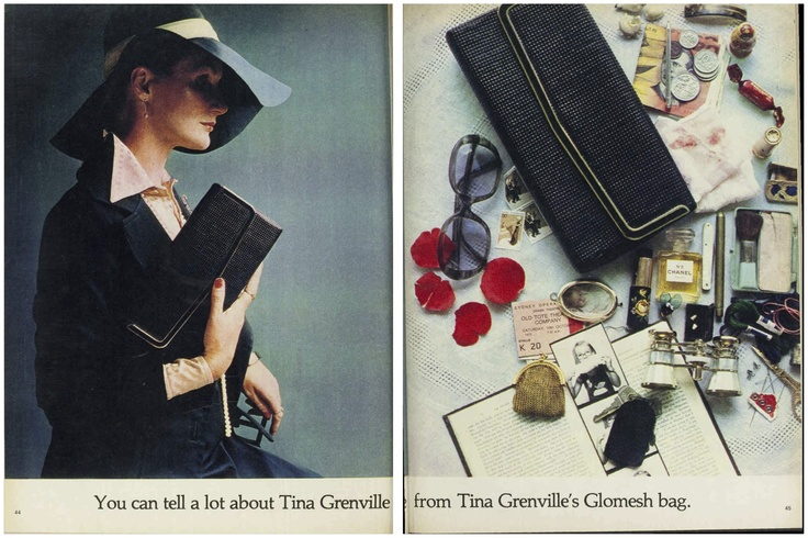 You can tell a lot about Tina Grenville from Tina Grenville's Glomesh bag... #TinaGrenville #Glomesh