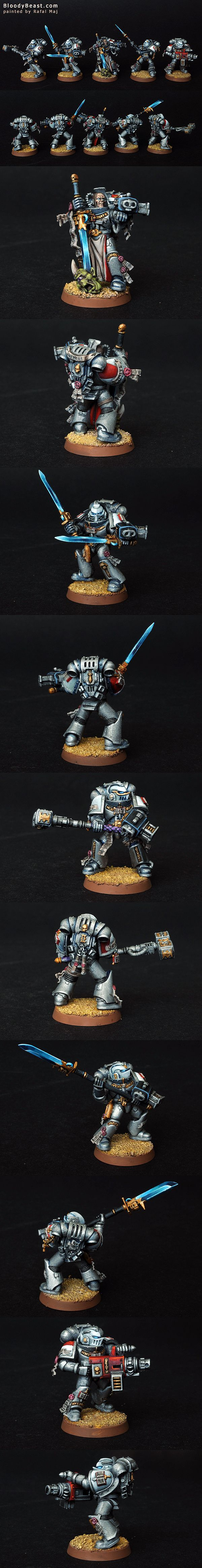 Grey Knight Squad painted by Rafal Maj (BloodyBeast.com)