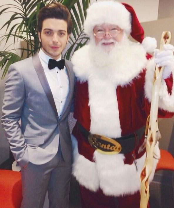 Gianluca with Santa at Christmas 2013