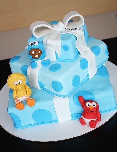 Sesame Street Babies On Package Cake