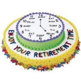 Know someone who is about to retire? Surprise them with a Dream Schedule Cake.