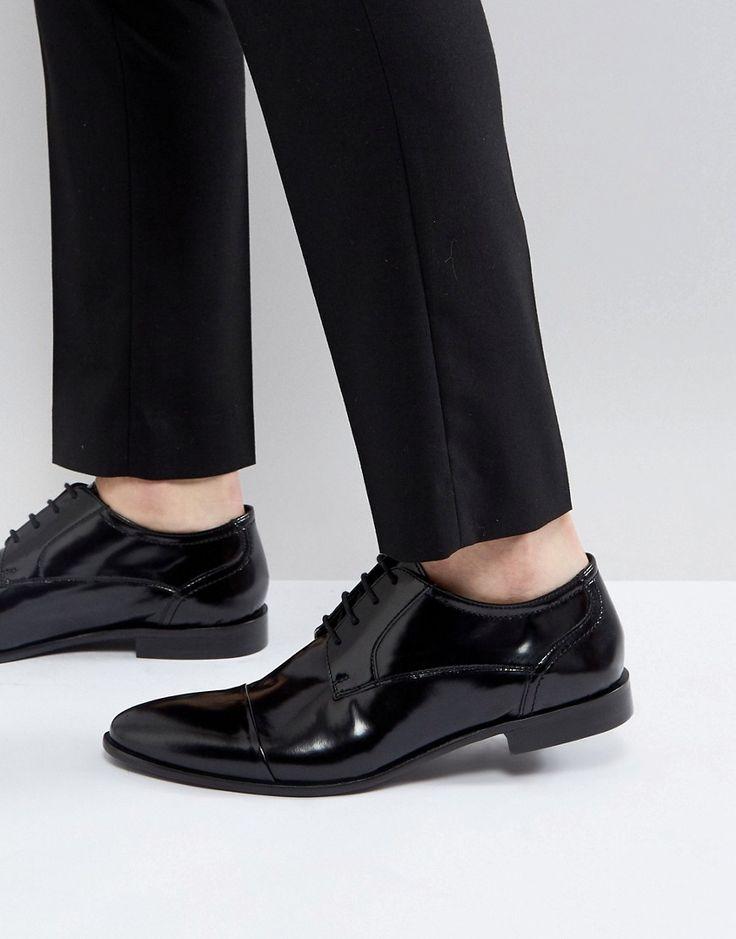 KG KURT GEIGER KG BY KURT GEIGER HIGH SHINE TOE CAP SHOES - BLACK. #kgkurtgeiger #shoes #