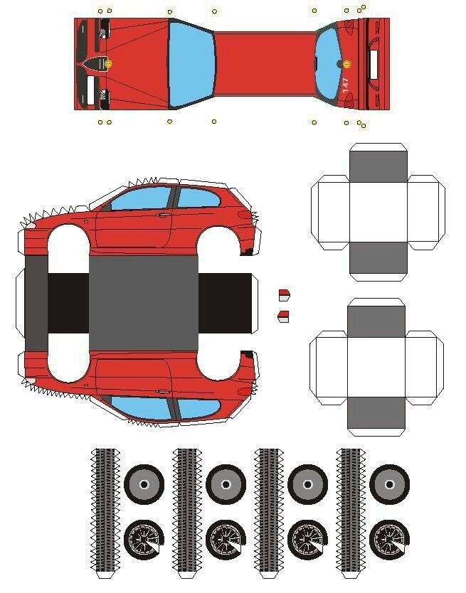 Alfa Romeo 147 3d紙 ペーパークラフト 紙