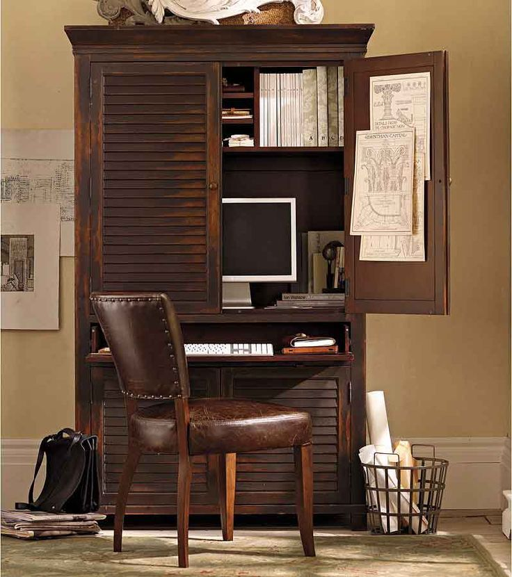 no space for a separate home officethe solution is a home office armoire check out these 10 clever home office ideas that fit in an armoire