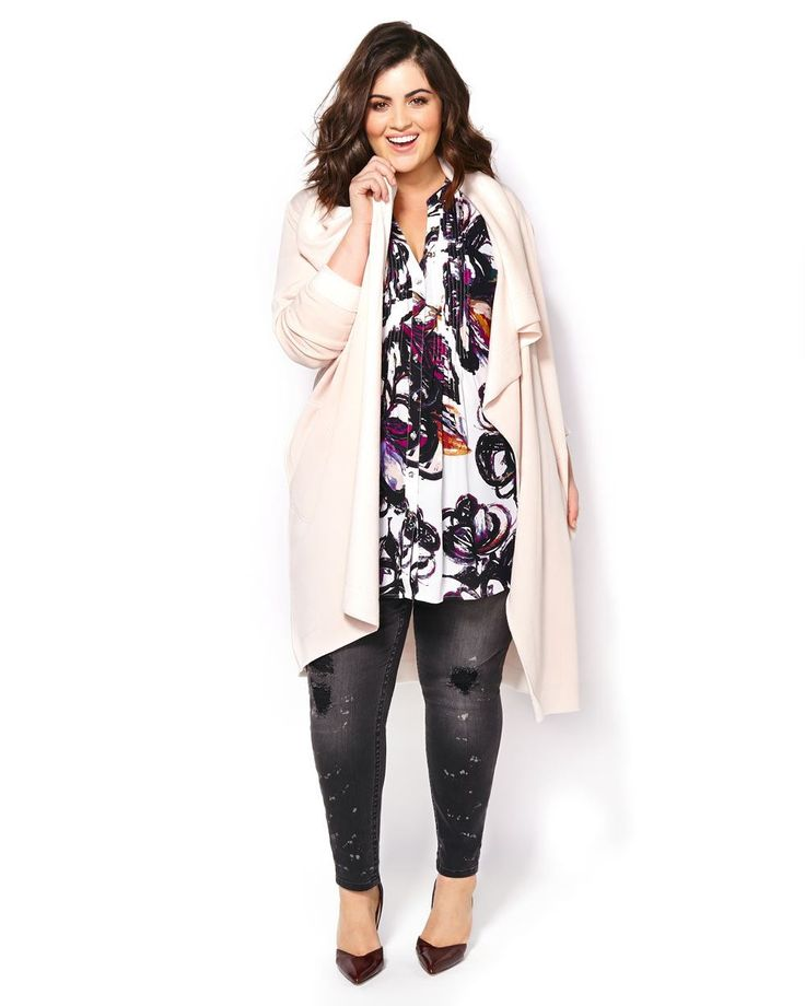 MELISSA McCARTHY Long Sleeve Open Cardigan