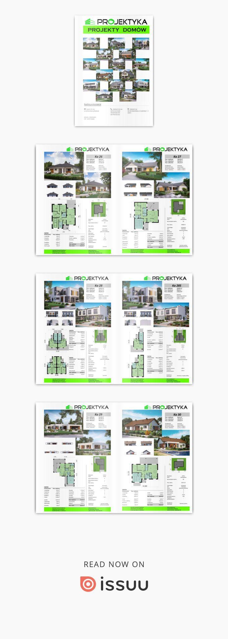 Katalog projektów  ProjektyKa - Katalog zawiera gotowe projekty domów.