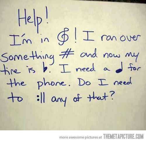 If you can read this, thank your music teacher…