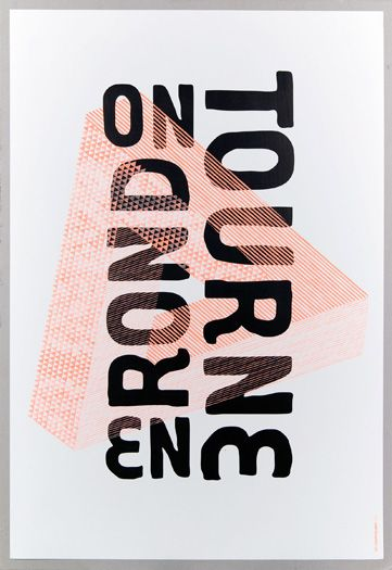 """on tourne en rond"" poster by les graphiquants"