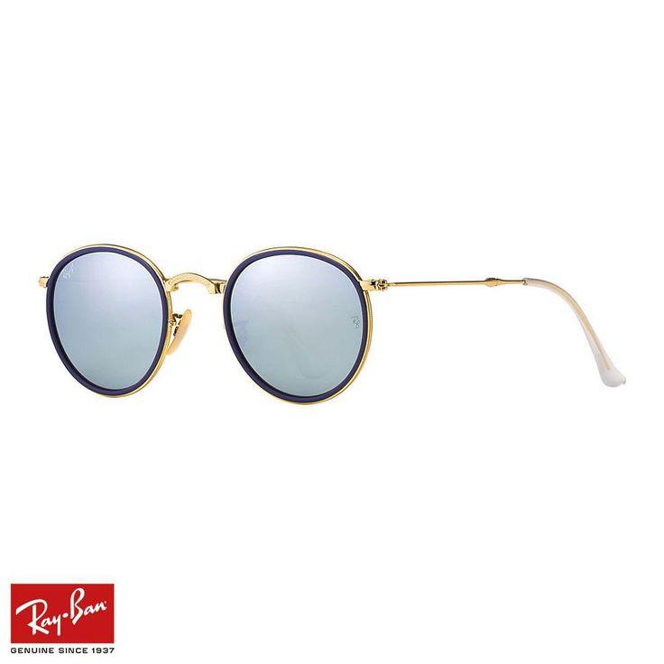 RayBan Round Folding F.Mavi-Altın Gözlük - 41 #RayBan #RayBanGözlük #Round Folding