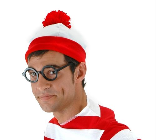 Where's Waldo Beanie Hat - What's Waldo without the traditional beanie? Complete your Where's Waldo costume with this red and white beanie.  #hat #yyc #costume #waldo
