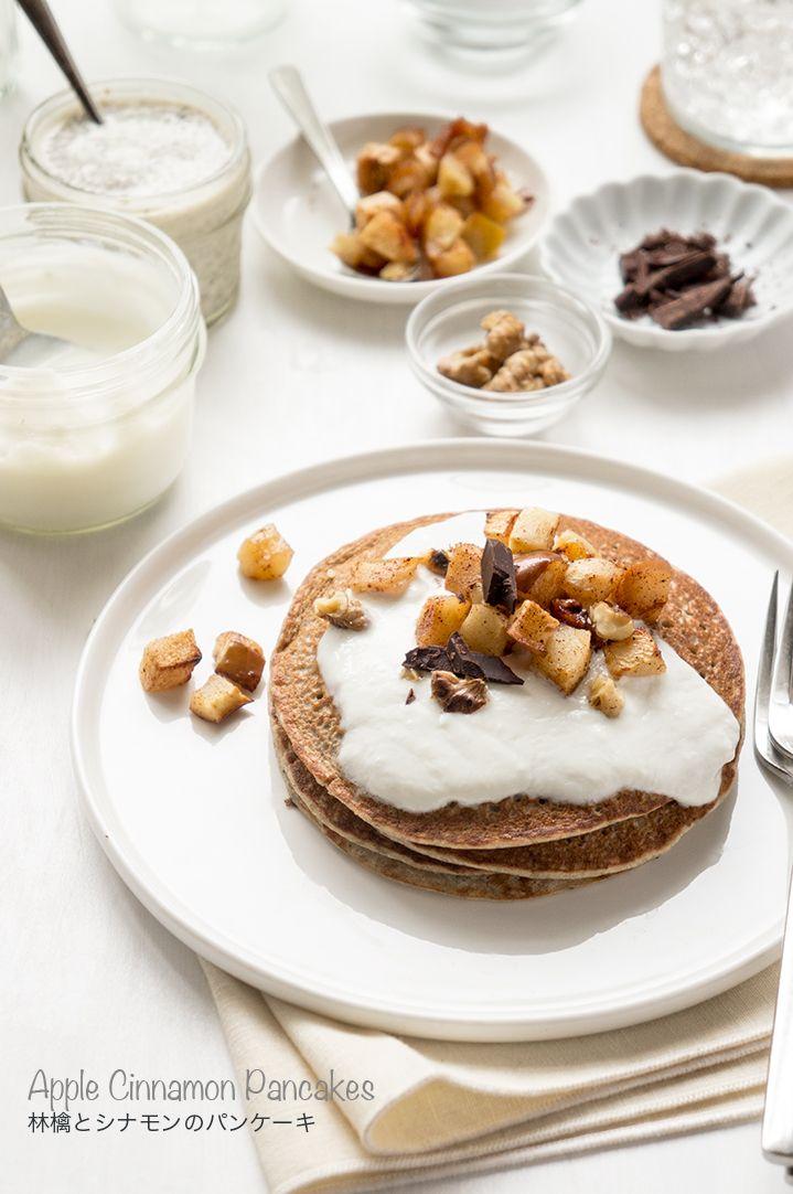 <GF>林檎とシナモンのパンケーキ #レシピ