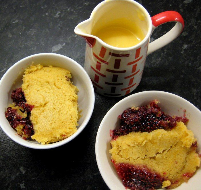 how to make a sponge pudding in the microwave