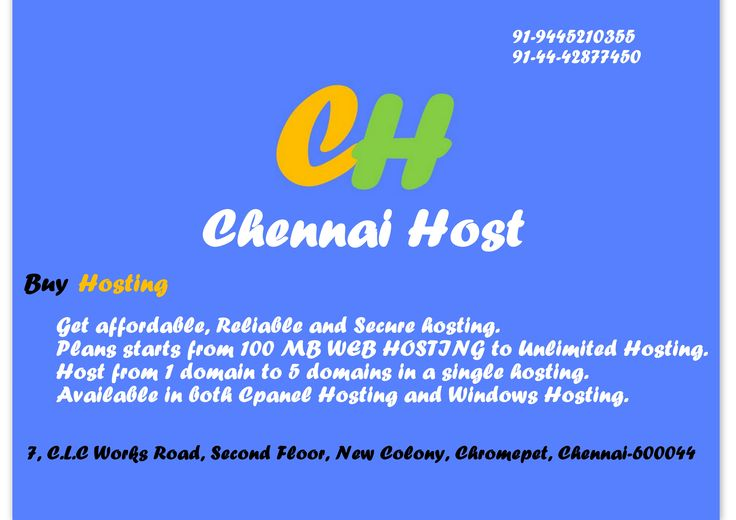 Web Designing , Domain & hosting services offered by ChennaiHost.