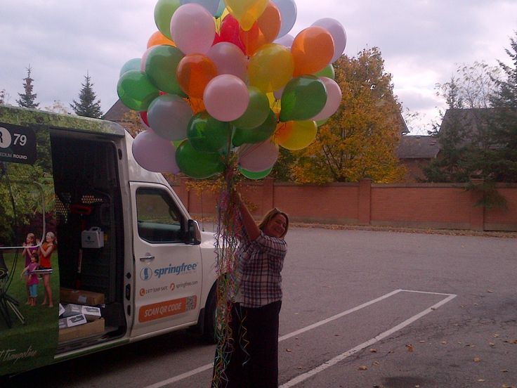 Special Delivery! We're planning a birthday party for 9 year old Bianca in our Toronto showroom! Balloons: Check!