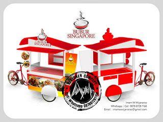 Desain Logo | Logo Kuliner |  Desain Gerobak | Jasa Desain dan Produksi Gerobak | Branding: Desain Gerobak Sepeda Bubur Singapore