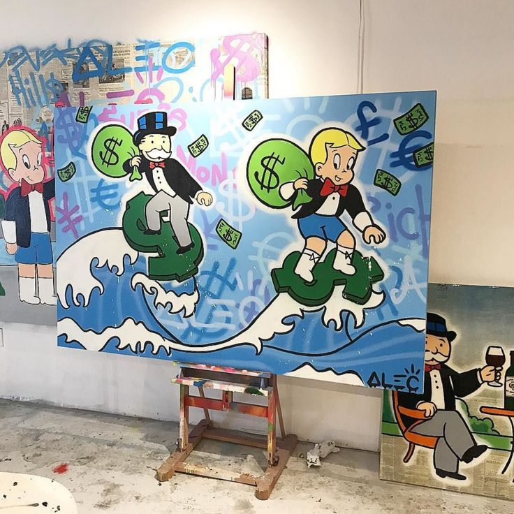 Alec Monopoly | Colorful drawings, Art design