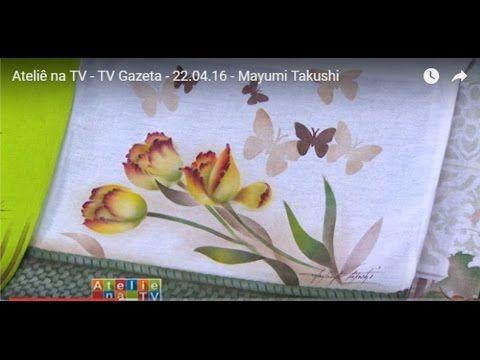 Stencil OPA - 22/04/16 - Mayumi Takushi - Tecido Tulipas Amarelas - YouTube