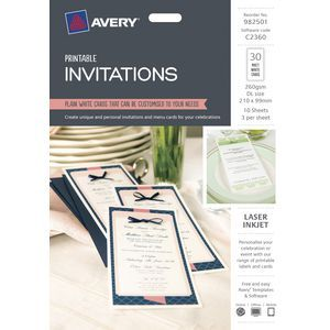 Create unique and personal invitations and menu cards for your celebrations.