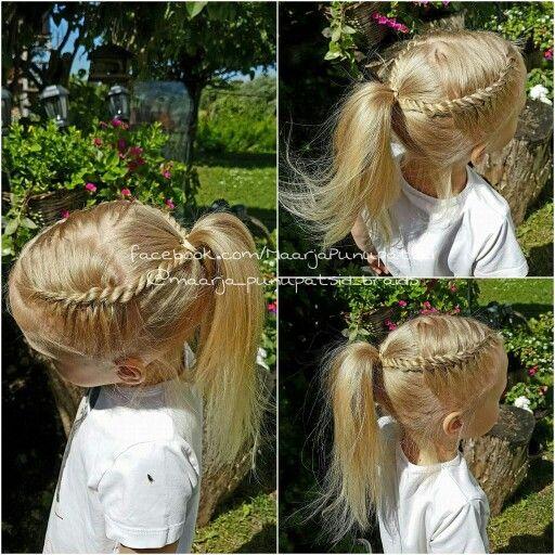 Rope twist braids into ponytail