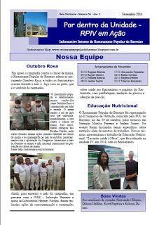 Restaurante Popular do Barreiro: Informativo- Rogério Pinto- auxiliar de cozinha funda informativo interno