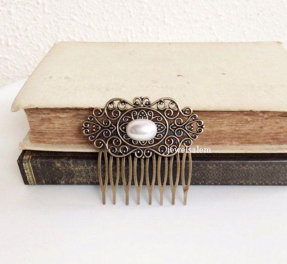 perle  cheveux  peigne  mariage  de mariée  par Jewelsalem sur Etsy