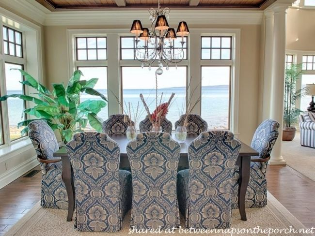 17 best ideas about beach style window treatments on furniture shabby chic dining room photos hgtv blue and