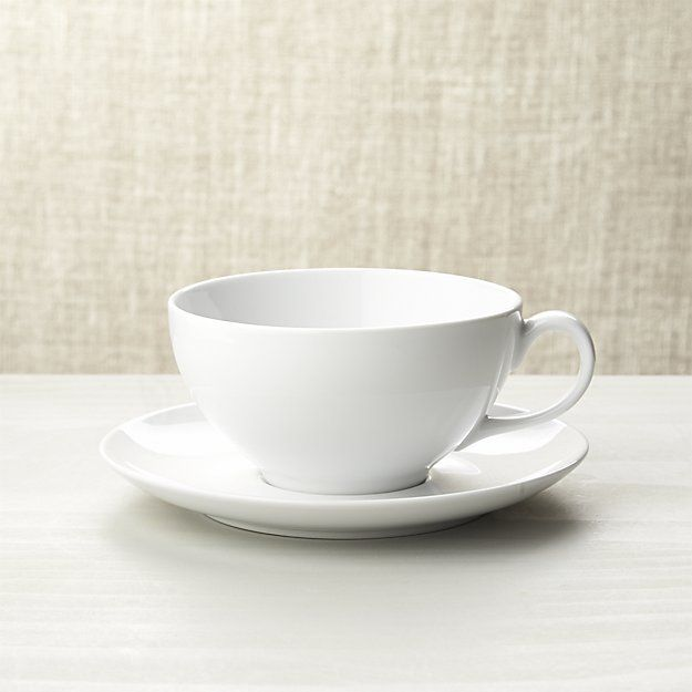 $6 Cappuccino Cup with Saucer | Crate and Barrel