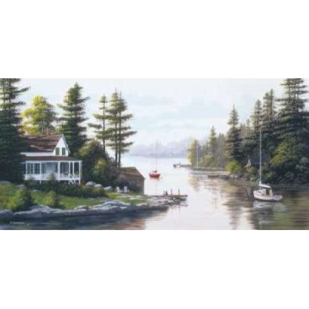 Cottage Country Canvas Art - Bill Saunders (10 x 20)