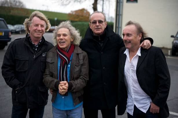 2012: Francis Rossi, Rick Parfitt, Alan Lancaster and John Coghlan. News of a brief reunion and tour. Got to be worth seeing.